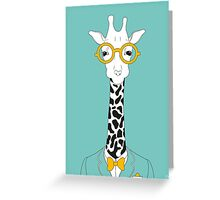 Hipster Giraffe Greeting Card