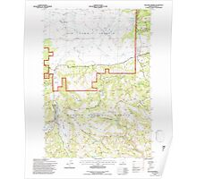 USGS Topo Map Oregon Williams Prairie 282105 1992 24000 Poster