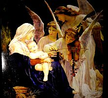 Song of the Angel after Bouguereau Oil on canvas 120x90cm. by jihorda
