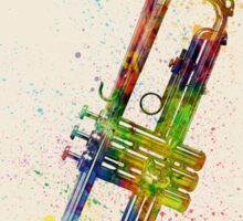 Trumpet Abstract Watercolor Sticker