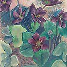 Purple flowers by acquart