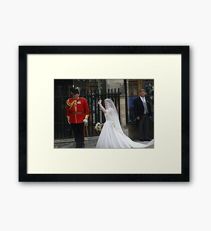 MISS CATHRINE MIDDLETON Framed Print