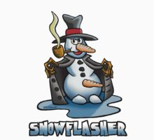 SNOWMAN FLASHER by NHR CARTOONS .