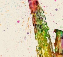 Saxophone Abstract Watercolor Sticker