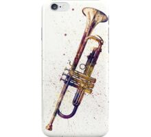 Trumpet Abstract Watercolor iPhone Case/Skin