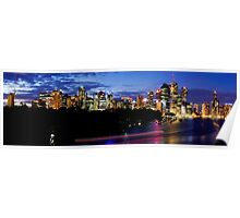 Brisbane Skyline Panorama Poster