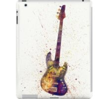 Electric Bass Guitar Abstract Watercolor iPad Case/Skin