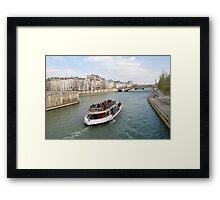 Paris excursion boat, France Framed Print