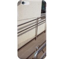 Ramp for physically challenged with metal railing iPhone Case/Skin
