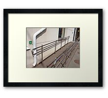 Ramp for physically challenged with metal railing Framed Print