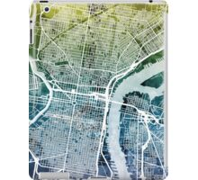 Philadelphia Pennsylvania City Street Map iPad Case/Skin