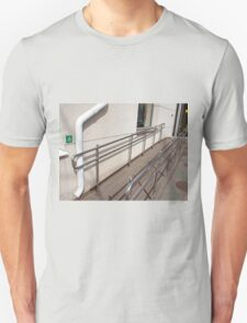 Ramp for physically challenged with metal railing T-Shirt