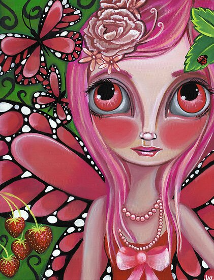"""Strawberry Butterfly Fairy"" by Jaz Higgins"