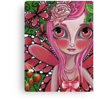 """""""Strawberry Butterfly Fairy"""" Canvas Print"""