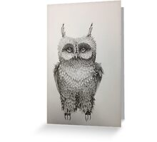 Cute Owl highly detailed Greeting Card