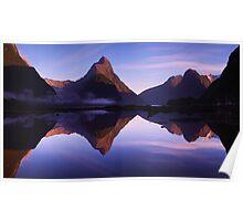 Mitre Peak sunrise - New Zealand Poster