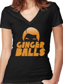Ginger Balls (Redhead funny) Women's Fitted V-Neck T-Shirt