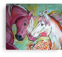 The Pink and White Horse Canvas Print