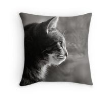 looking out.. Throw Pillow