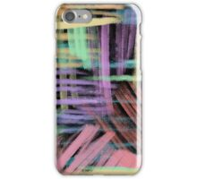 oil pastels pattern iPhone Case/Skin