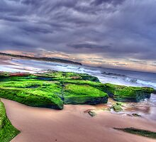 Green Rocks and Sand by Sarah Donoghue