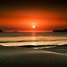 Waves at dawn by Michael Howard