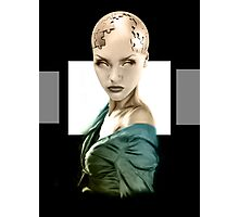 Cyber Girl Photographic Print