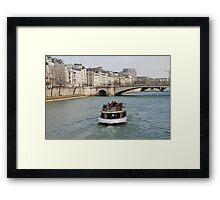 Excursion boat, Paris Framed Print