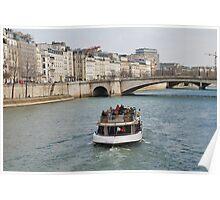 Excursion boat, Paris Poster