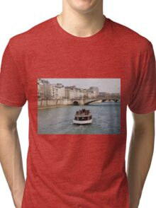 Excursion boat, Paris Tri-blend T-Shirt