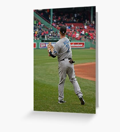 Toronto Blue Jay Rich Hill Greeting Card