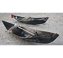 Resting canoes Photographic Print