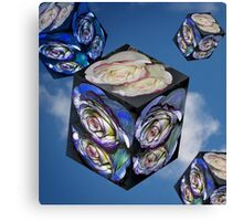 rose cube Canvas Print
