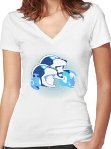 Travel among unknown stars Women's Fitted V-Neck T-Shirt