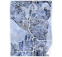 Seattle Washington Street Map Poster