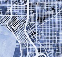 Seattle Washington Street Map Sticker