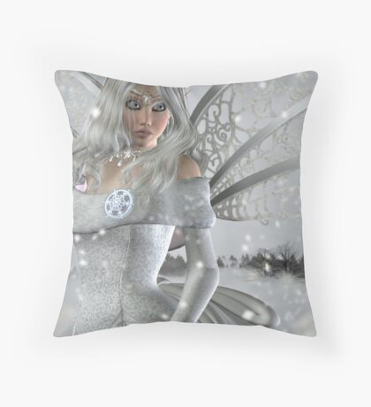 Winter Fairy Throw Pillow
