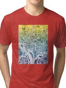 Washington DC Street Map Tri-blend T-Shirt