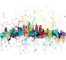 Philadelphia Pennsylvania Skyline Photographic Print