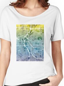 Denver Colorado Street Map Women's Relaxed Fit T-Shirt