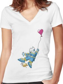 Astronaut in Love Women's Fitted V-Neck T-Shirt