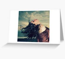 The wind in her hair Greeting Card