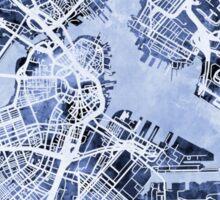 Boston Massachusetts Street Map Sticker