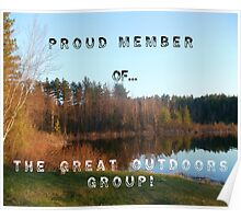 EXAMPLE BANNER FOR THE GREAT OUTDOORS GROUP PROUD MEMBER BANNER Poster