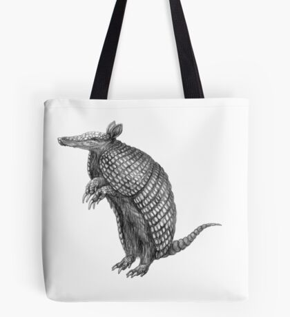 Pencil drawn armadillo Tote Bag