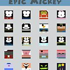 Minimalistic Epic Mickey by Bitedaily