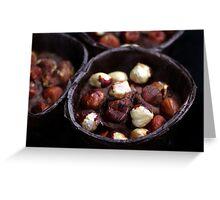 Chocolate Hazelnut Frangipane Tarts Greeting Card