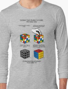 Rubik's Cube:The easy way Long Sleeve T-Shirt