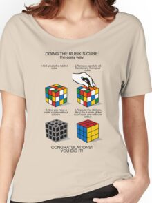 Rubik's Cube:The easy way Women's Relaxed Fit T-Shirt