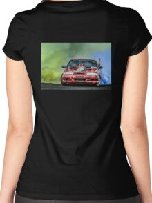 PSYCHO Burnout Women's Fitted Scoop T-Shirt